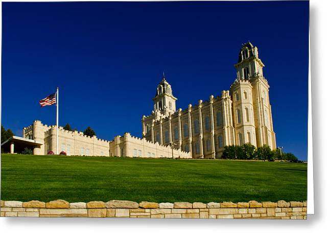 Religious Greeting Cards - Manti Flag Greeting Card by La Rae  Roberts