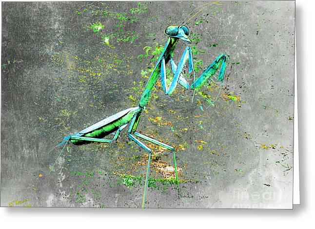 Sculpture Greeting Cards - Mantis Greeting Card by Arne Hansen