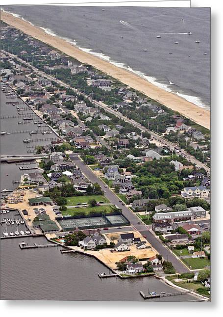 Pearson Aerial Greeting Cards - Mantoloking Barnegat Atlantic Greeting Card by Duncan Pearson