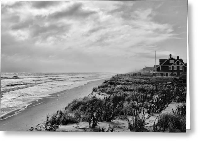 Mantoloking Beach - Jersey Shore Greeting Card by Angie Tirado