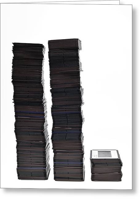 Analog Greeting Cards - Many slides stacked Greeting Card by Matthias Hauser