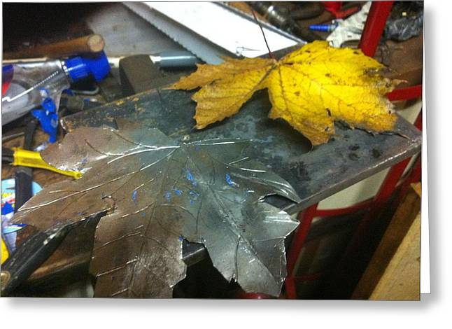 Leaf Sculptures Greeting Cards - Maple Leaf  Greeting Card by Jeremy Pontbriand