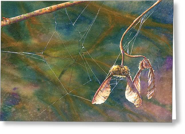 Web Of Life Paintings Greeting Cards - Maple Magic Greeting Card by Melinda Wilde