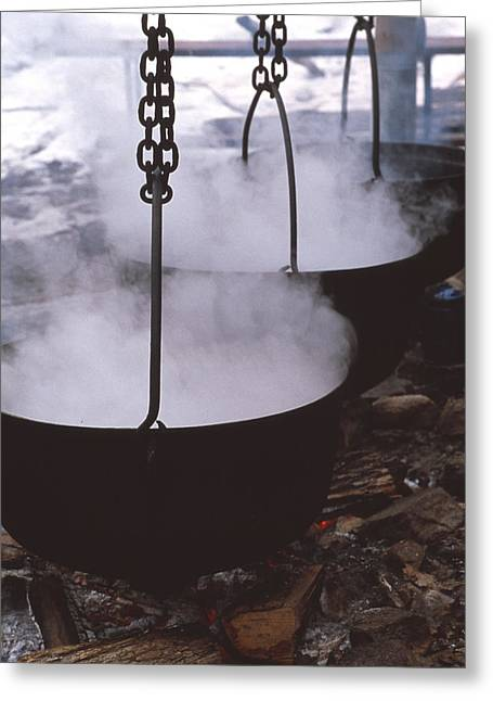 Maple Syrup Greeting Cards - Maple Syrup Manufacture Greeting Card by Alan Sirulnikoff