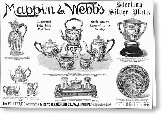 Tankards Greeting Cards - Mappin & Webbs, 1892 Greeting Card by Granger