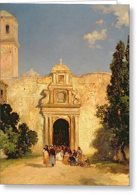 Portal Paintings Greeting Cards - Maravatio in Mexico Greeting Card by Thomas Moran