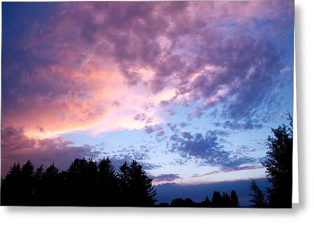 Sunset Posters Greeting Cards - Marble sky Greeting Card by Kevin Bone