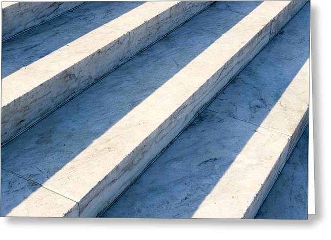 Marble Steps, Jefferson Memorial, Washington DC, USA, North America Greeting Card by Paul Edmondson