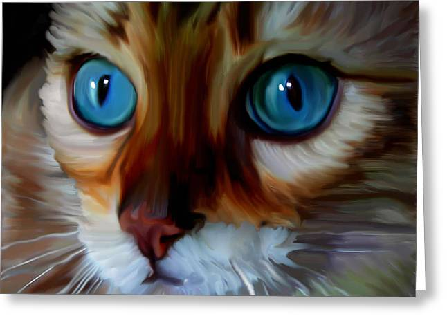 Marble Eye Greeting Cards - Marbles  Greeting Card by Susan  Solak