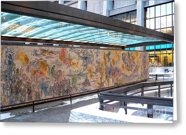 Marc Chagall Mosaic Greeting Card by David Bearden