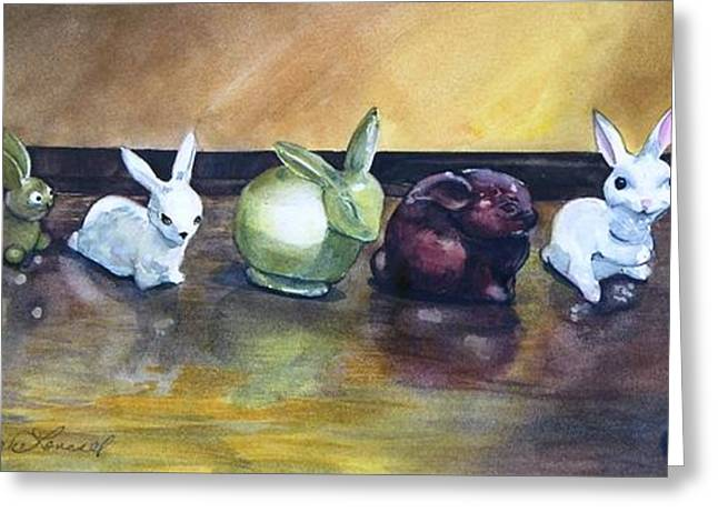 March Hare Greeting Cards - March Hares Greeting Card by Jane Loveall