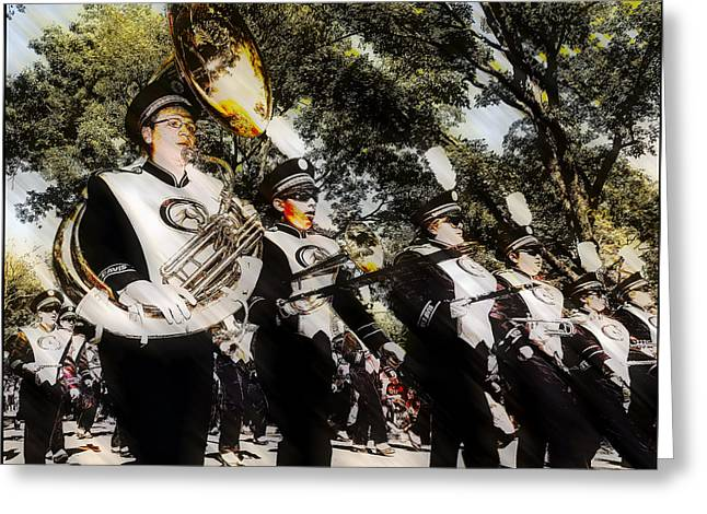 Uc Davis Photographs Greeting Cards - Marching Band Greeting Card by Charles McDonald