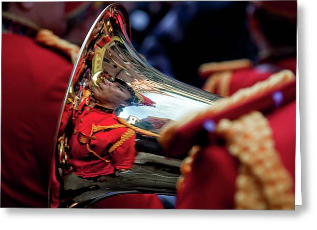 Marching Band Greeting Cards - Marching Band Lunar New Year NYC Chinatown 2012 Greeting Card by Robert Ullmann