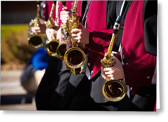Marching Band Saxophones  Greeting Card by James BO  Insogna