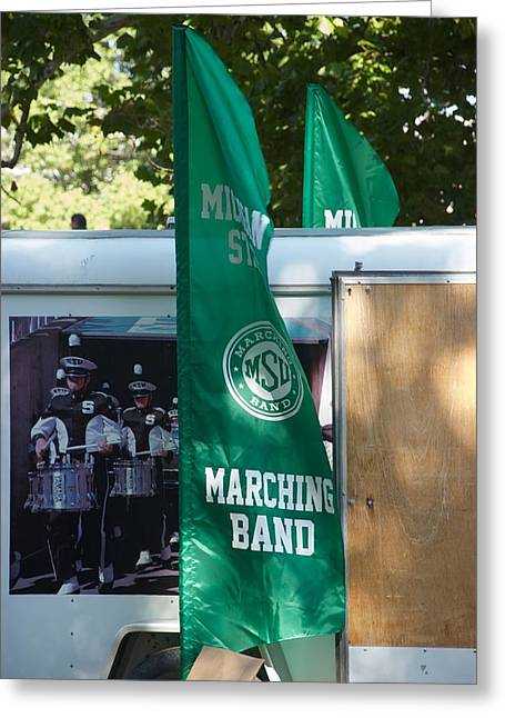 Marching Band Greeting Cards - Marching Greeting Card by Joseph Yarbrough