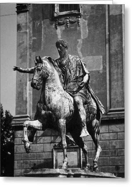 Statue Portrait Greeting Cards - Marcus Aurelius Greeting Card by Granger