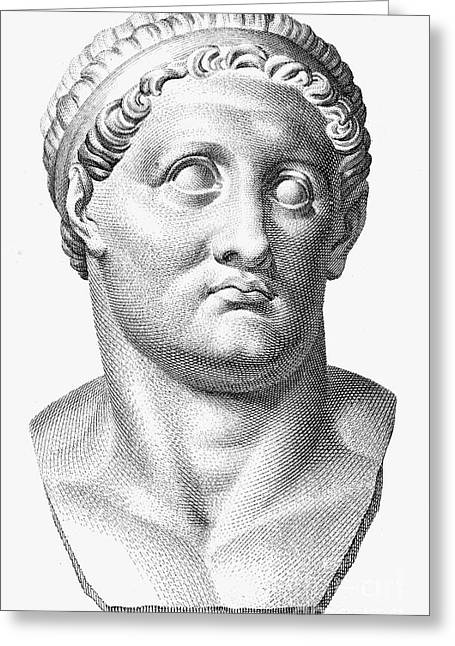 Statue Portrait Greeting Cards - Marcus Salvius Otho Greeting Card by Granger