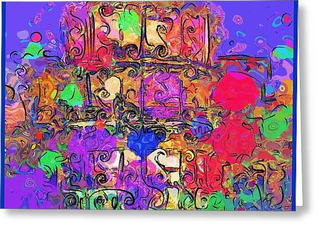 Artprint Greeting Cards - Mardi Gras Greeting Card by Alec Drake