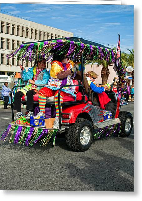 Metairie Greeting Cards - Mardi Gras Clowning Greeting Card by Steve Harrington