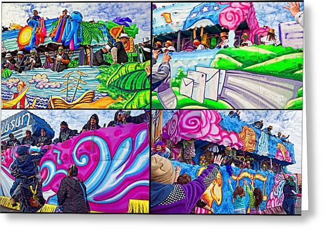 Mardi Gras Fun Greeting Card by Steve Harrington