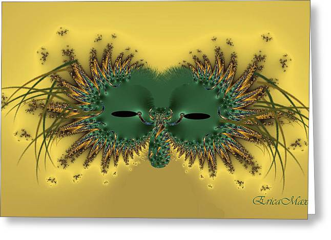 Tn Digital Art Greeting Cards - Mardi Gras Mask Greeting Card by EricaMaxine  Price