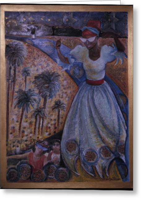 Best Sellers -  - Purim Greeting Cards - Mardi Gras Megillah Greeting Card by Barbara Nesin
