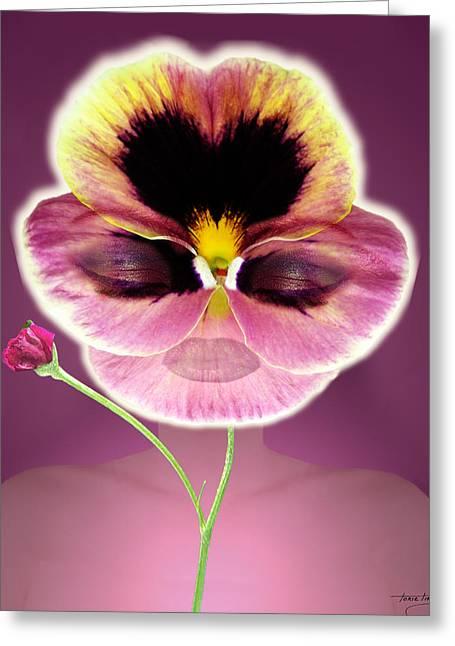 Floral Digital Art Digital Art Greeting Cards - Mardi Gras Greeting Card by Torie Tiffany