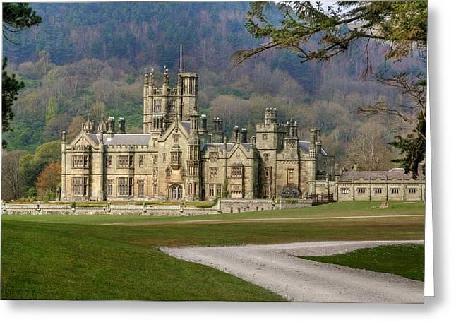 Gothic Mansion Greeting Cards - Margam Caslte Greeting Card by Julie L Hoddinott