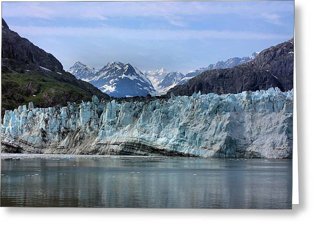 Striae Greeting Cards - Margerie Glacier Greeting Card by Kristin Elmquist