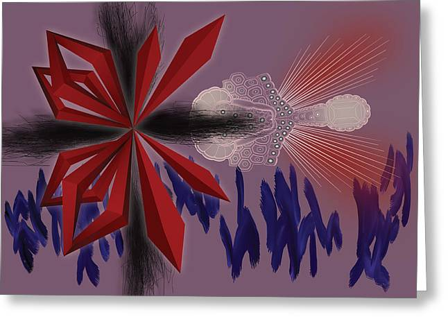 Air Brush Greeting Cards - Margielo Greeting Card by Foltera Art