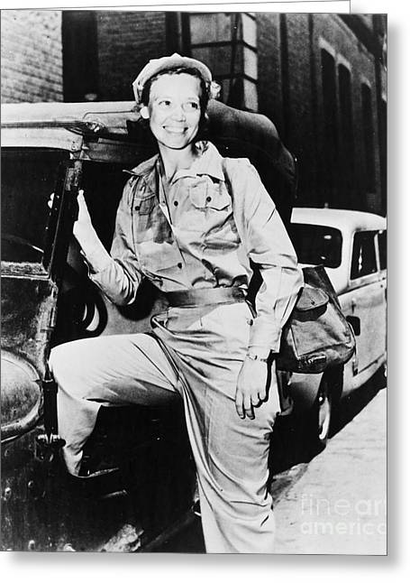 American Automobiles Greeting Cards - Marguerite Higgins Greeting Card by Granger