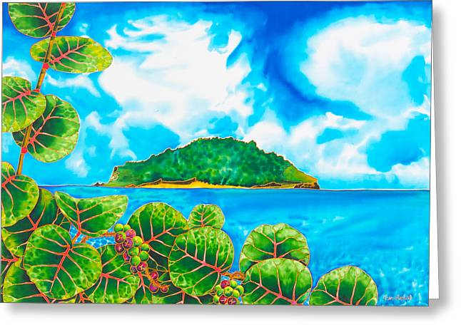 Caribbean Art Tapestries - Textiles Greeting Cards - Maria ISLAND - SAINT LUCIA Greeting Card by Daniel Jean-Baptiste