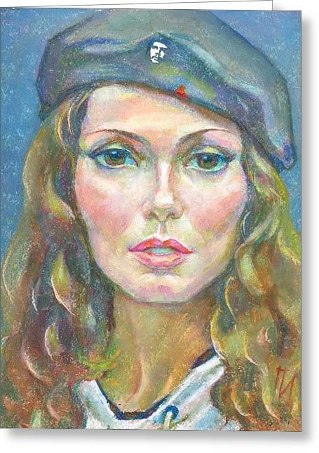 Girl Greeting Cards - Maria Svyatskaya Greeting Card by Leonid Petrushin