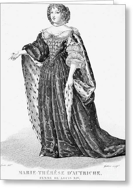 Queen Consort Greeting Cards - Maria Theresa Of Spain Greeting Card by Granger