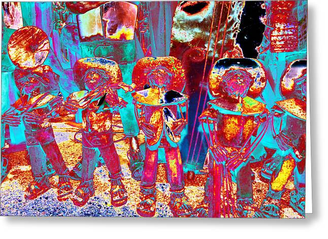 Mariachi Greeting Cards - Mariachi Abstract Greeting Card by Richard Henne