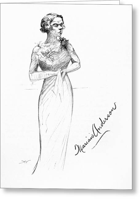 Autograph Greeting Cards - Marian Anderson (1897-1993) Greeting Card by Granger