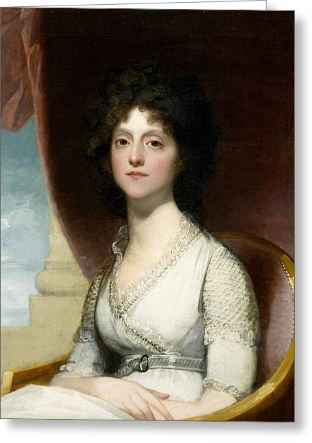 White Dress Greeting Cards - Marianne Ashley Walker Greeting Card by Gilbert Stuart