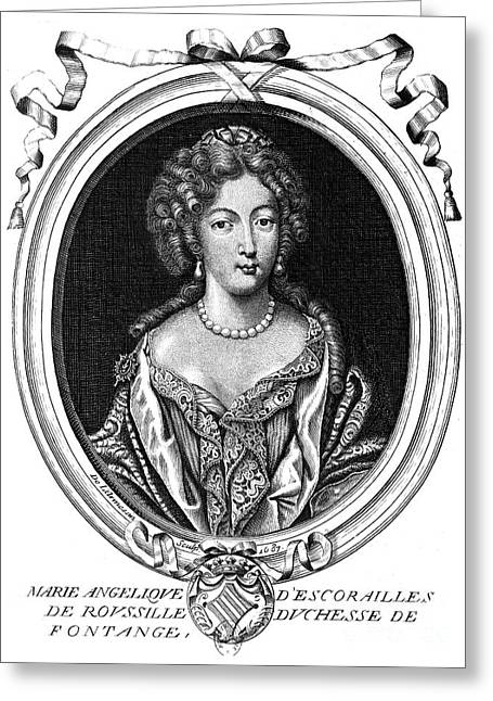 Duchess Greeting Cards - Marie-angÉlique De Rousille Greeting Card by Granger