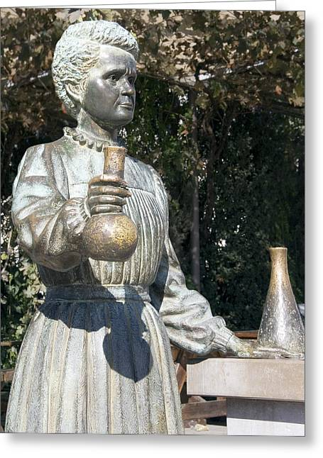 Statue Portrait Photographs Greeting Cards - Marie Curie, Polish-french Physicist Greeting Card by Sheila Terry