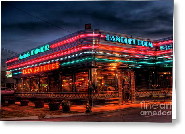 Photographers Conyers Greeting Cards - Marietta Diner Greeting Card by Corky Willis Atlanta Photography