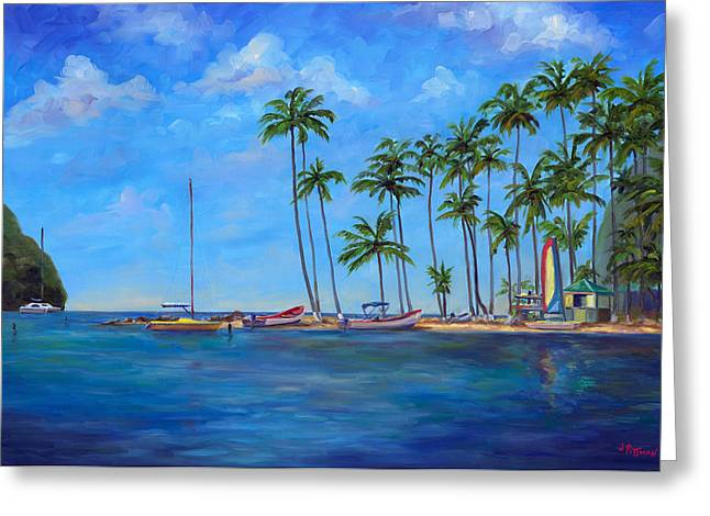 West Indies Greeting Cards - Marigot Bay St. Lucia Greeting Card by Jeff Pittman