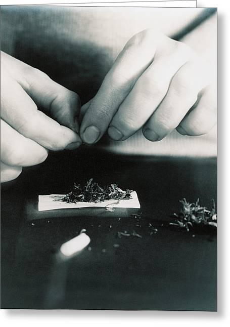 Marijuana Photographs Greeting Cards - Marijuana Cigarette Greeting Card by Cristina Pedrazzini