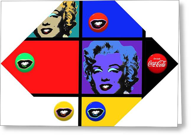 Fed Digital Greeting Cards - Marilyn De Stijl Greeting Card by Charles Stuart