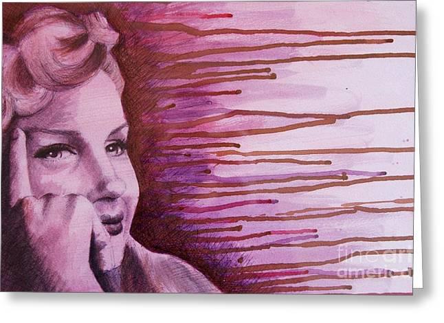 Marilyn Greeting Card by James Flynn