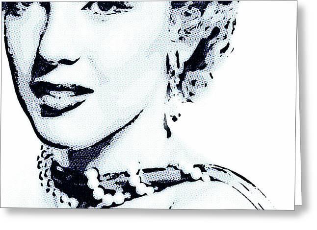 Nude Monroe Greeting Cards - Marilyn Greeting Card by Jeff Adkins