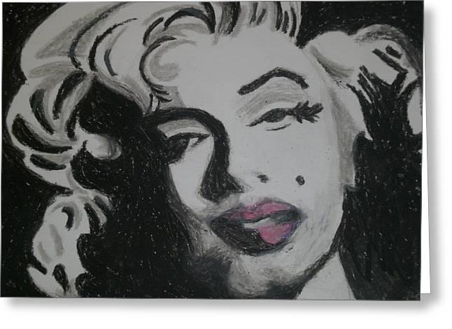 Pin Up Pastels Greeting Cards - Marilyn Greeting Card by Lisa Leeman