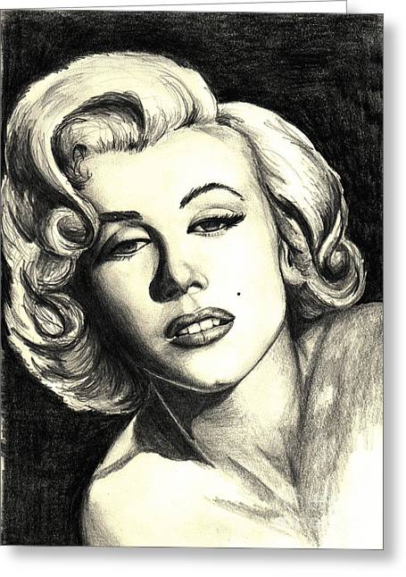 Marilyn Greeting Cards - Marilyn Monroe Greeting Card by Debbie DeWitt