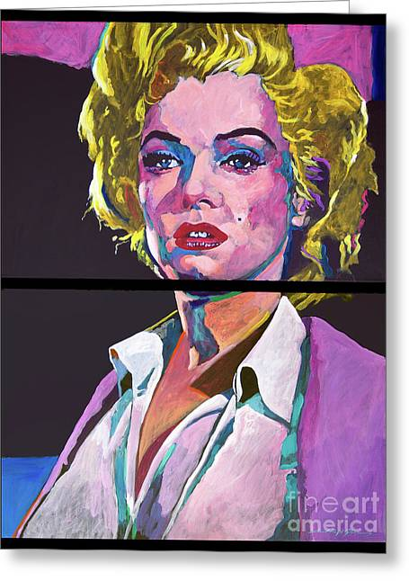 Famous Artist Greeting Cards - Marilyn Monroe Dyptich Greeting Card by David Lloyd Glover