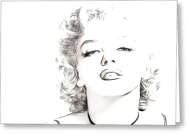 Famous Women Greeting Cards - Marilyn Monroe Greeting Card by Tilly Williams
