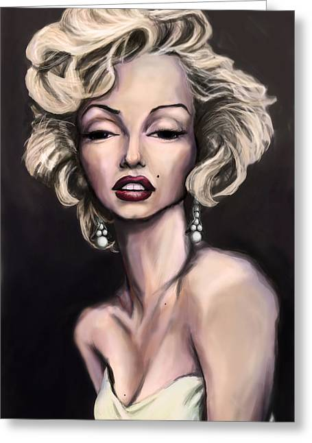 Pin-up Model Greeting Cards - Marilyn Monroe Greeting Card by Tyler Auman